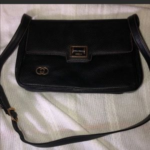 Vintage GUCCI black Overall Classic black bag